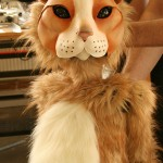 Plush cat puppet
