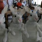 Plastazote rabbit puppets