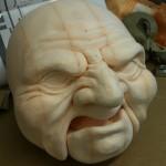 Styrofoam puppet sculpt